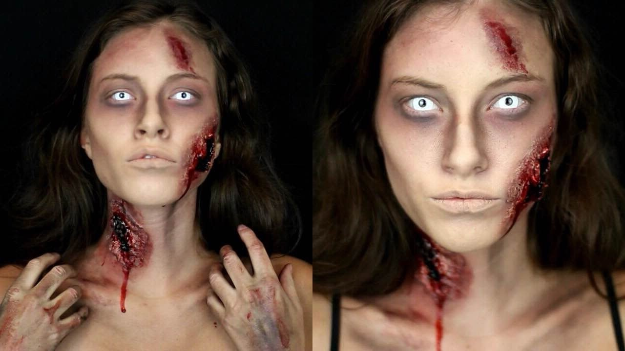 Look d'Halloween effrayant.