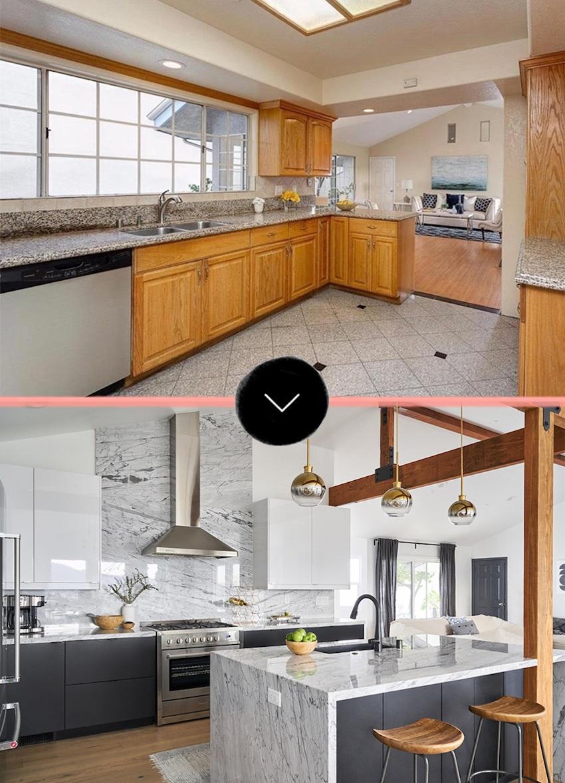 Rénovation d'appartement avant/après.