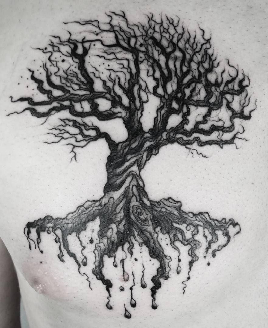 Idée de tatouage arbre mort.