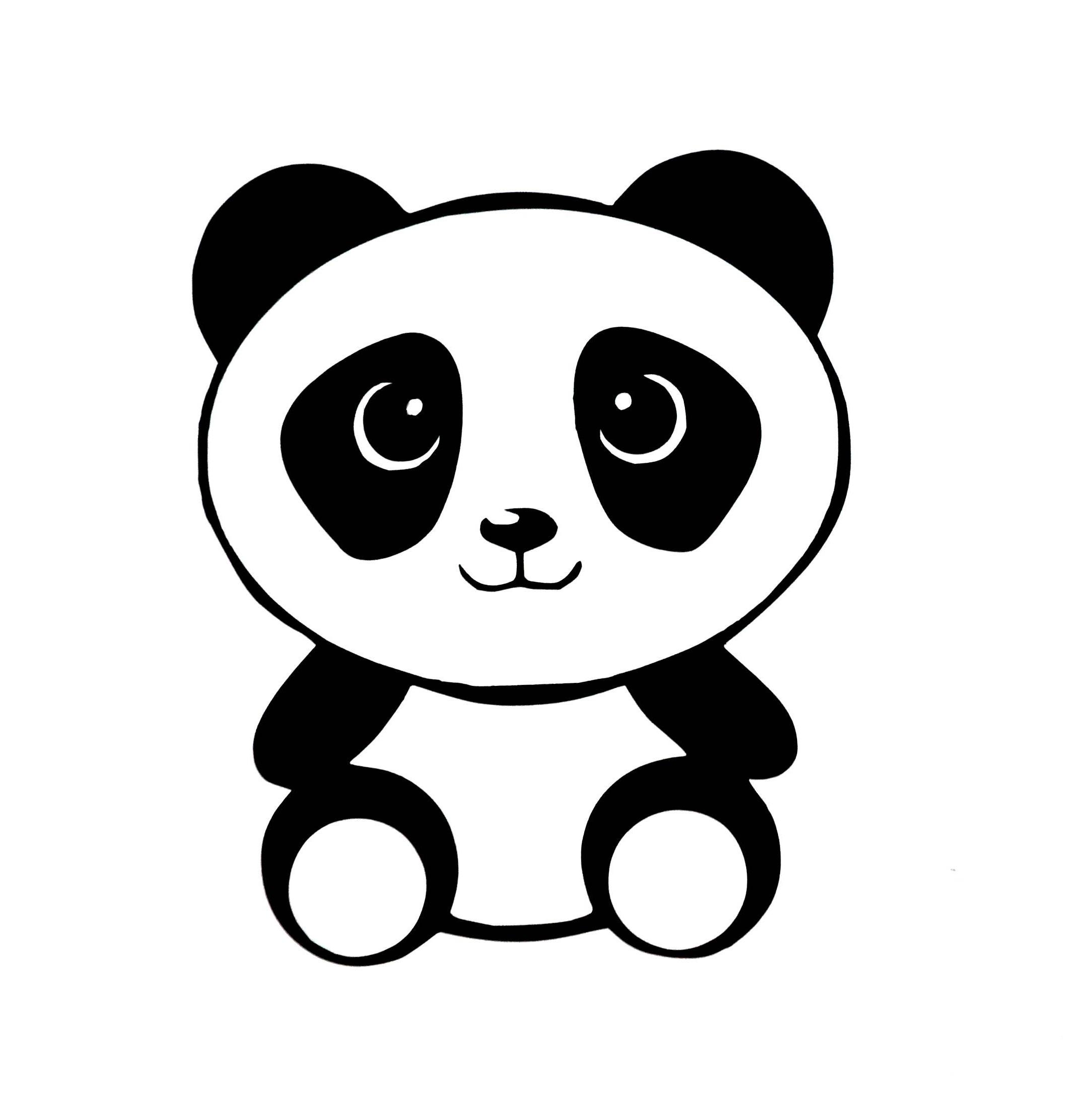 Tuto dessin facile: comment dessiner un panda étape par étape.