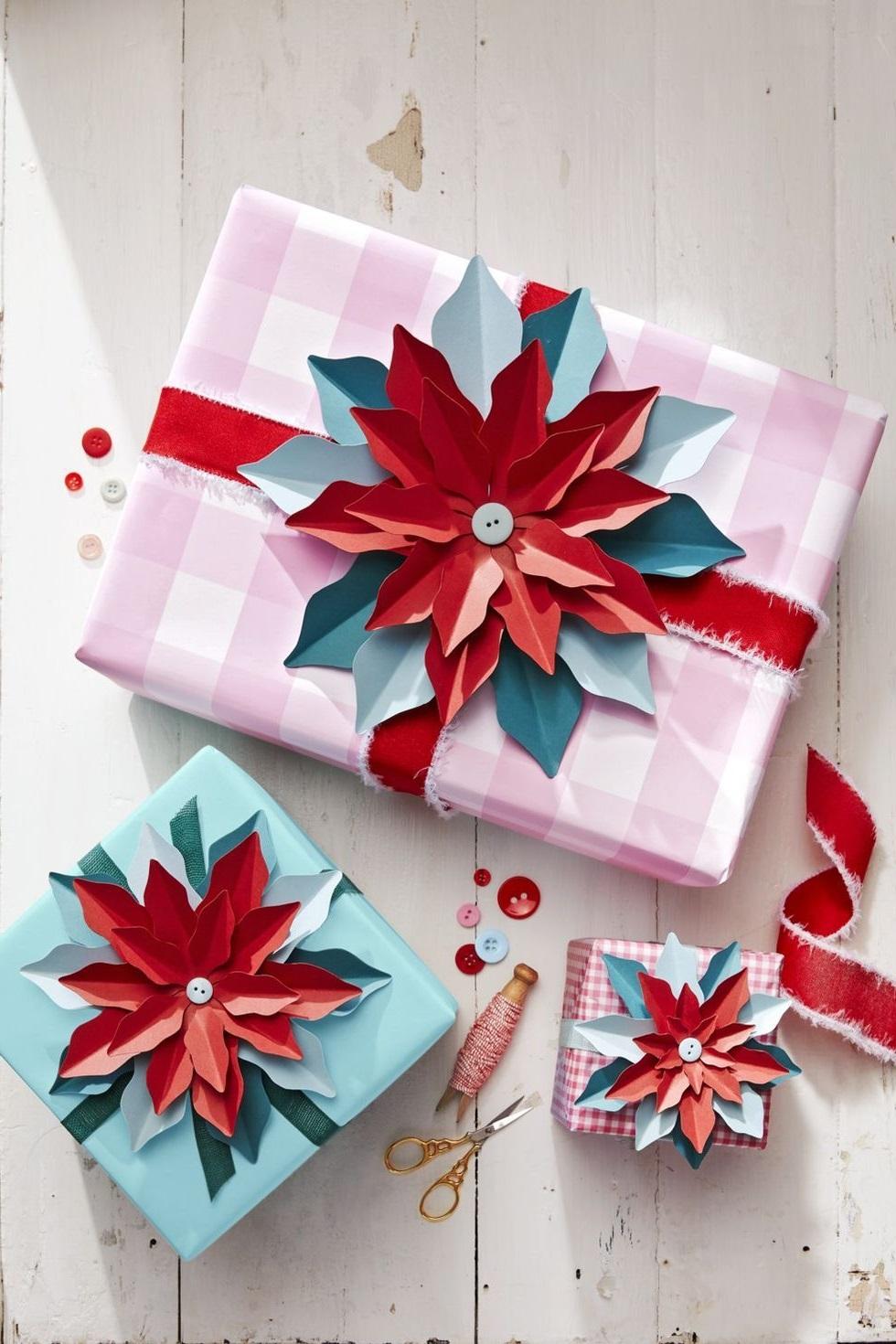 Idées creátives pour emballage festif.
