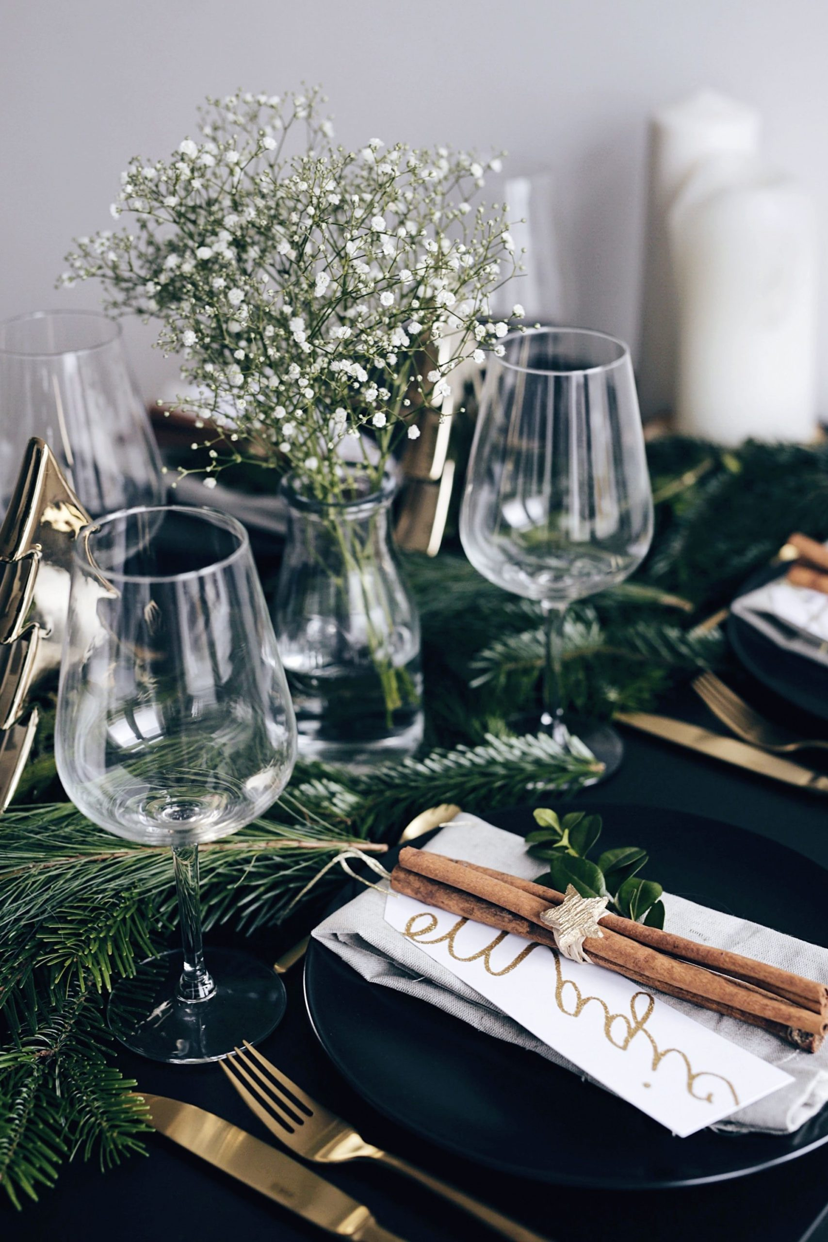 Déco de table pour les fêtes.