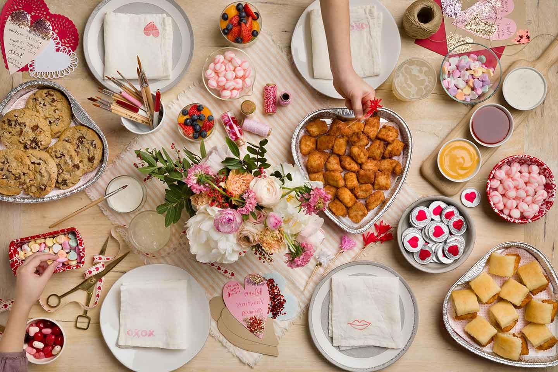 Idée de repas pour la Saint-Valentin.