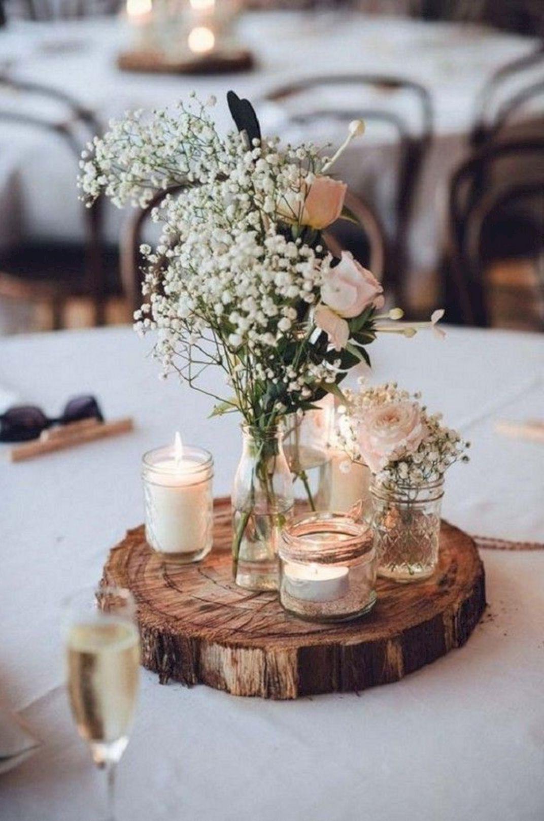 Déco de mariage champêtre à faire soi-même.