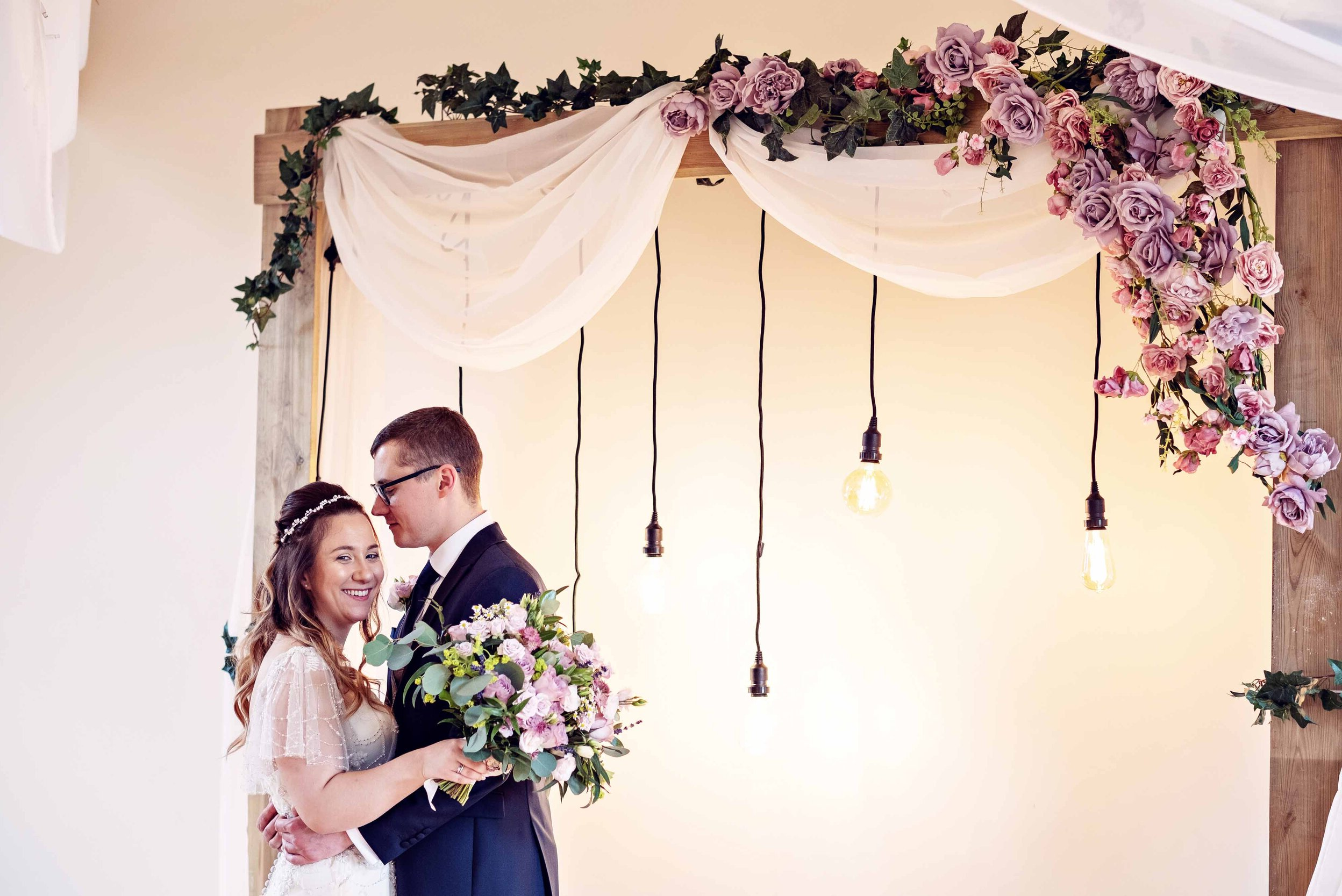 Décoration de salle de mariage.